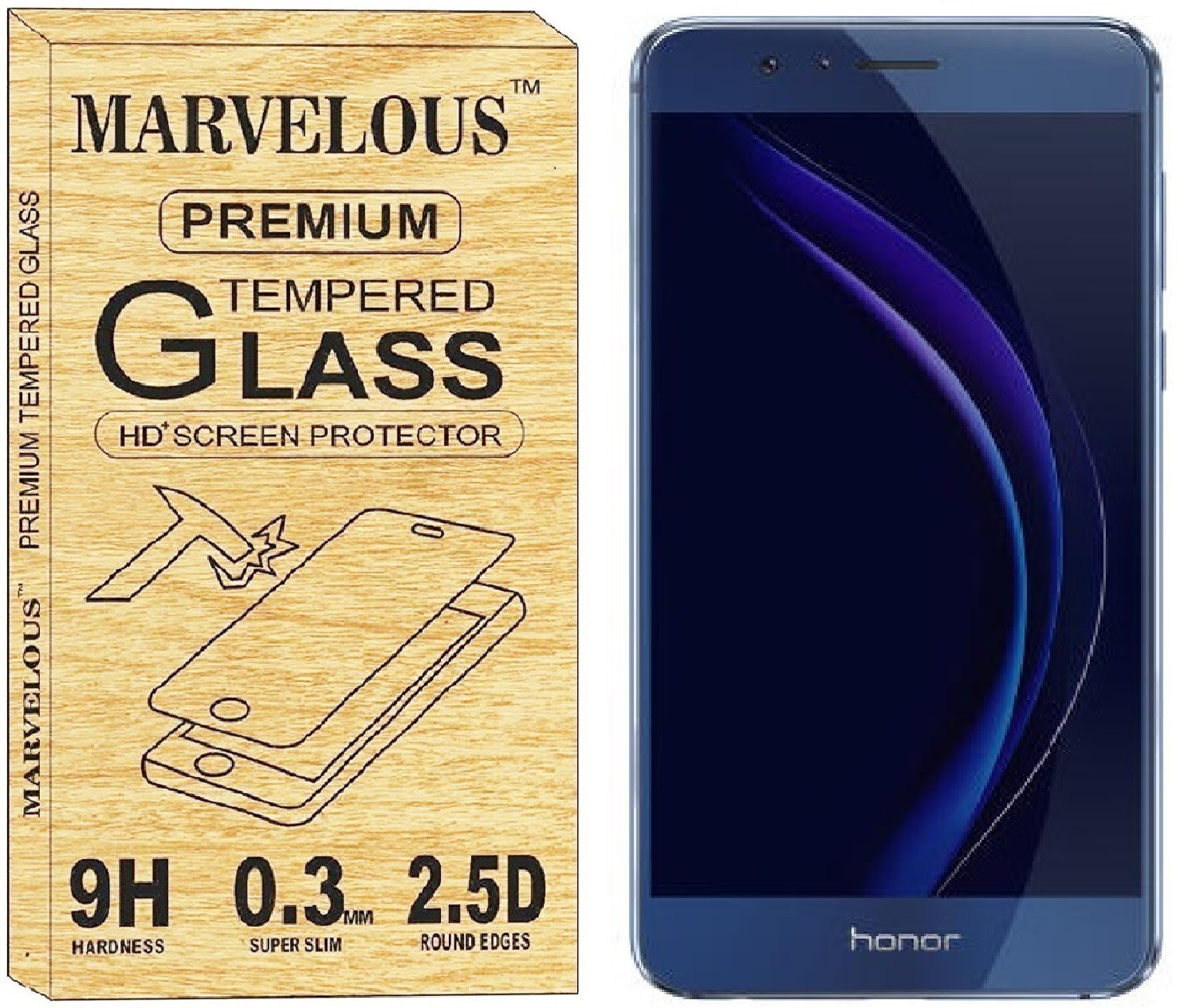 Marvelous Tempered Glass Guard for Honor 8