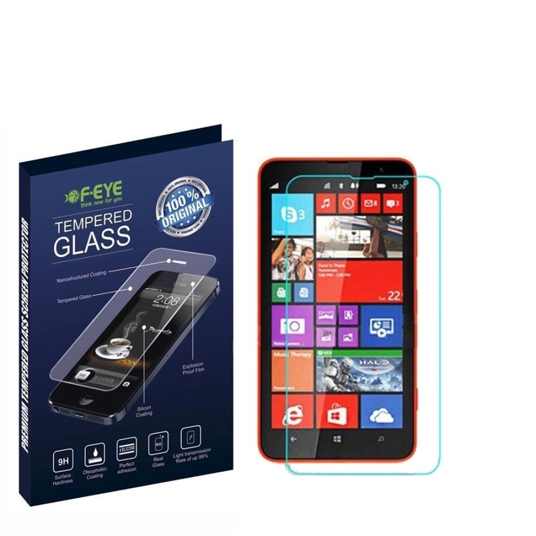 FEYE FMT-126a HD Ultra Clear Original Tempered Glass for Nokia Lumia 1320