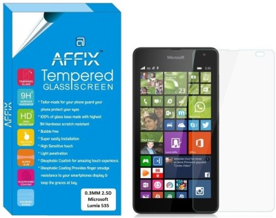 Affix Tempered Glass Guard for Microsoft Lumia 535 (5.0