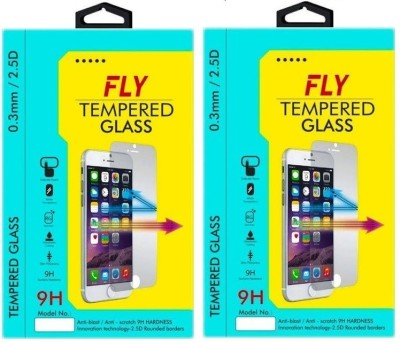 Fly FLY-IPH4FB Tempered Glass for Apple iPhone 4, Apple iPhone 4S, Apple iPhone 4G (F&B) Pack of 2 Front & Back