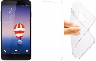 Big Zee Soft Silicon Totu Cover & Tempered Glass for Coolpad Note 3 Lite