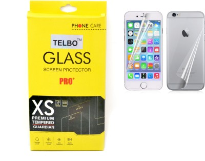 TELBO IPHONE 5S FRONT BACK TEMPERED GLASS PACK OF 1 Tempered Glass for Apple iPhone 5S