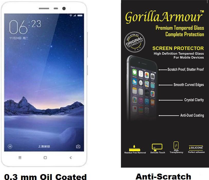 Gorilla Armour Tempered Glass Guard for Xiaomi Redmi Note 4 Flipkart