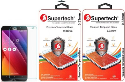 Supertech ZE551ML-6J648WW Pro Plus HD Clear Screen Protector Pack Of 2 Tempered Glass for Asus Zenfone 2 5.5