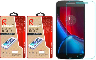 Raydenhy XT1643 HD Clear Screen Guard Tempered Glass for Motorola Moto G4 Plus (4th Gen) Pack of 2