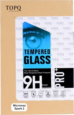 TopQ Tempered Glass Guard for Micromax Canvas Spark 2 Q334