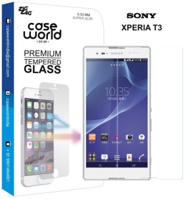 Case World TGXT3 Tempered Glass for Sony Xperia T3