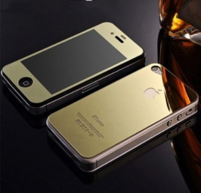GG ENTERPRISES Iphone 4 4sGold Tempered Glass for Iphone 4 4s
