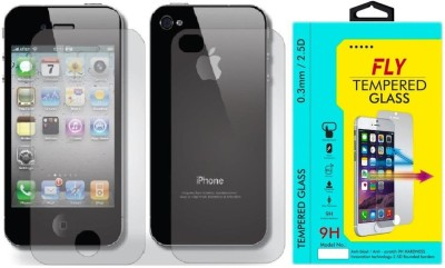 Fly IPHONE4/4S Curved Pack of 2 Tempered Glass for Apple iPhone 4/4S/4C (F&B)
