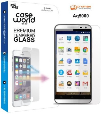 Case World Tempered Glass Guard for Micromax AQ5000