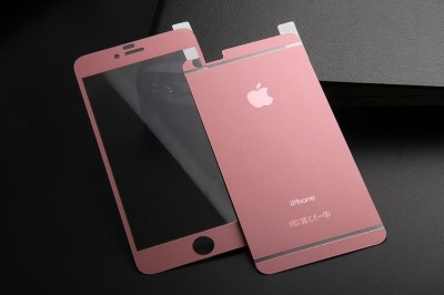 Mussa Matte Colour Tempered Glass for Apple I phone 6/6S Rose Gold