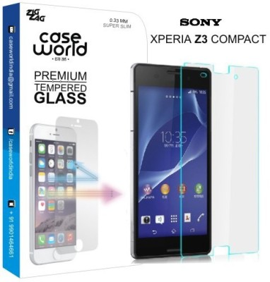 Case World TGXZ3C Tempered Glass for Sony Xperia Z3 Compact