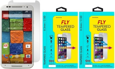 Fly XT1092 Curved Pack of 2 Tempered Glass for Motorola Moto X2 (2nd Generation)
