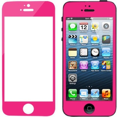 Qawachh 4/4sHotpink Tempered Glass for apple 4;4s