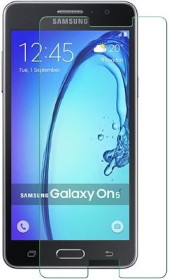 Prateek Exports UFC1TMP18 Tempered Glass for Samsung on5