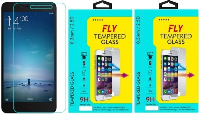 Fly Prime 2 9H Pro 0.33MM Pack of 2 Tempered Glass for Xiaomi Redmi 2 Prime