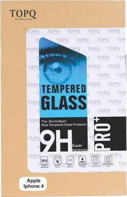 TopQ Tempered Glass Guard for Apple iPhone 4, 4s