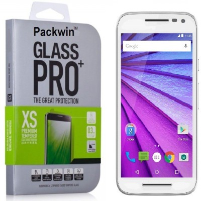 Packwin 17627 3rd Gen 0.3mm Kristal Clear PRO+ Tempered Glass for Motorola Moto G 3rd Generation