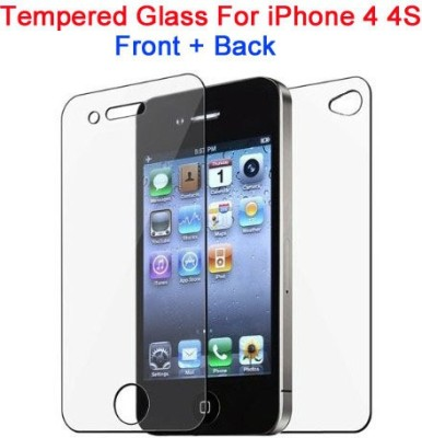 Bidas 4&4S WITH BACK Best Quality With Hd Clearance Tempered Glass for APPLE IPHONE 4, APPLE IPHONE 4S