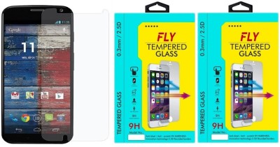 Fly XT1052 Oil Coated Pack of 2 Tempered Glass for Motorola Moto X1 (1st Generation)