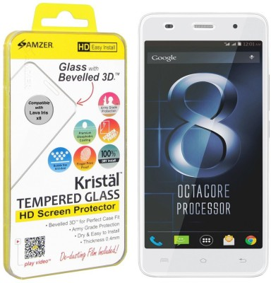 Amzer Kristal Tempered Glass for Lava Iris X8