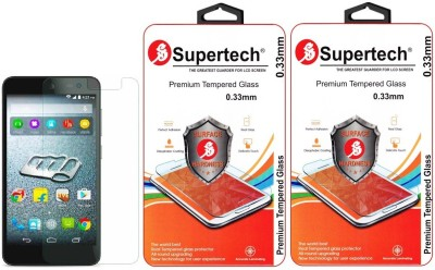 Supertech E-313 Curved HD Clear Screen Protector Pack Of 2 Tempered Glass for Micromax Canvas Xpress 2