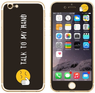 Dress My Gadget Talk to my Hand Designer Front & Back Tempered Glass for iPhone 5