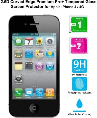Casreen 100091 2.5D Curved Edge Premium Pro+ Tempered Glass Tempered Glass for Apple iPhone 4