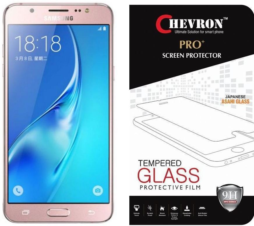 Chevron Tempered Glass Guard for Samsung Galaxy J5 - 6 (New 2016 Edition)