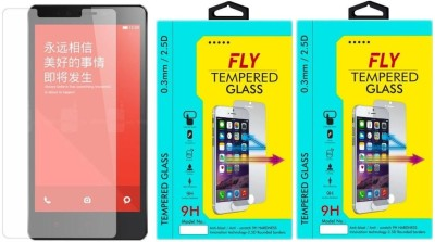 Fly NOTE3G4G 9H Pro 0.33MM Pack of 2 Tempered Glass for Xiaomi Redmi Note 3G/4G