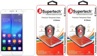 Supertech H60-L04 Pro Plus HD Clear Screen Protector Pack Of 2 Tempered Glass for Huawei Honor 6