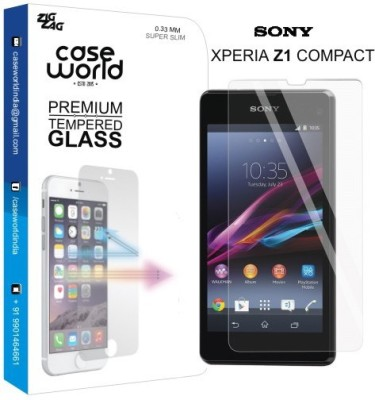 Case World TGXZ1C Tempered Glass for Sony Xperia Z1 Compact