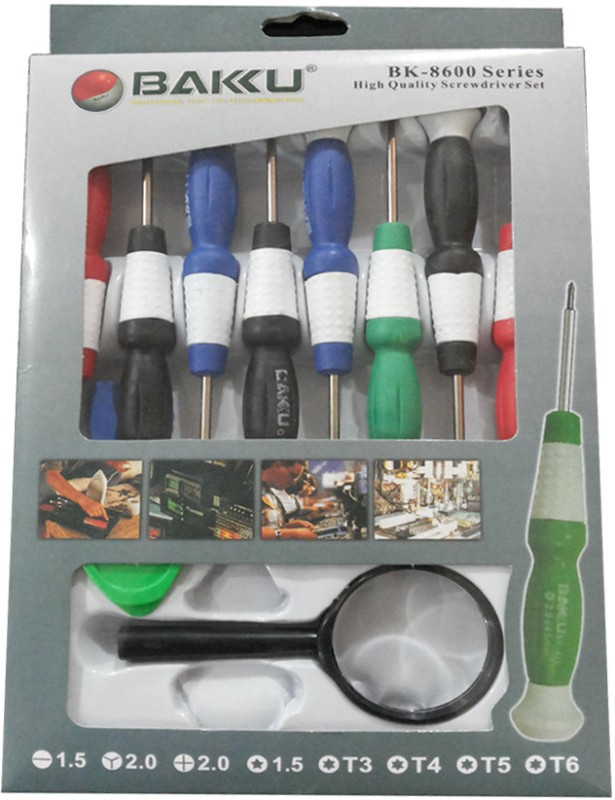 Bakku BK-8600 Pro Repairing Screwdriver Bit Set(Pack of 11)
