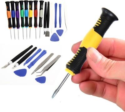 DIY Crafts New Repair Tool Kit for Mobile Phone 16 pcs Screwdriver For Toolset Tool Set Kit Mobile Phone 16 in1 Screwdriver For Gadget Screwdriver Bit Set(Pack of 16) Image