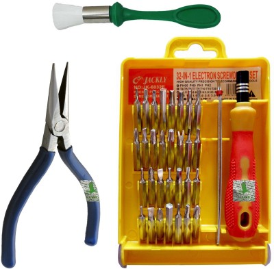 Hawk Plier Brush Tool Kit Combination Screwdriver Set
