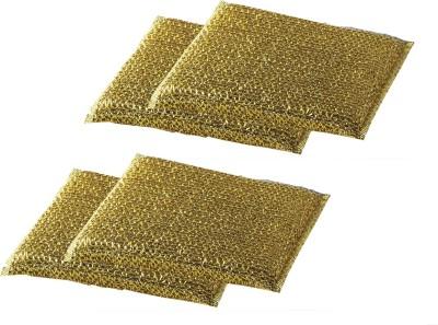 Zibo Luster Sponges Scrub Sponge(Gold Pack of 4)