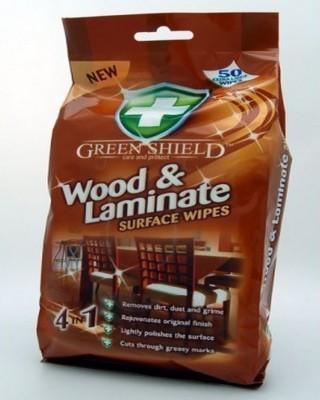 Greenshield Wood Wipes Scrub Sponge(Brown Pack of 50)