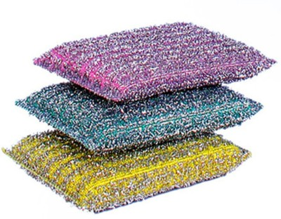 Sir Prize Shooter Scratch Proof Scrubber Pads / Scrubbing Pads / Utensil Scrubber / Kitchen Scrubber Scrub Sponge(Multicolor Pack of 6)