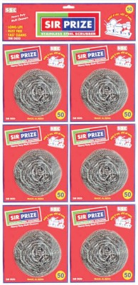 Sir Prize Superior Quality Stainless steel Scrubber Combo Set (Pack of 6) Scrub Pad(Steel Pack of 6)