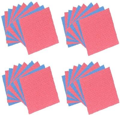 Clene Clene Sponge Wipe Scrub Pad(Red, Blue Pack of 40)