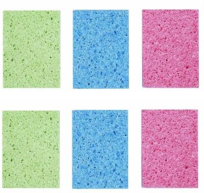 Zolo Scrub Sponge(Multicolor Pack of 6)