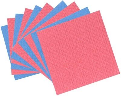 Clene Sponge Wipe Scrub Pad(Blue, Red, Yellow Pack of 10)
