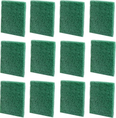 Pranay's Large Scrub Pad Scrub Pad(Green Pack of 12)