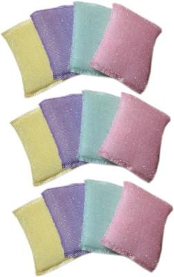 Goldcave Scrub Sponge(Multicolor Pack of 12)