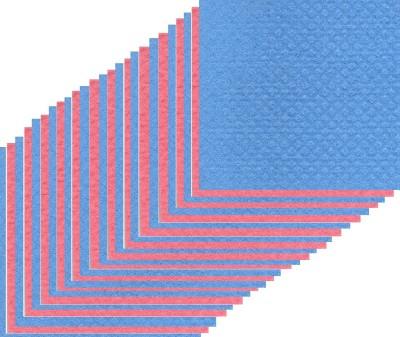 Clene Sponge Wipe 25 Scrub Pad(Red, Blue Pack of 25)