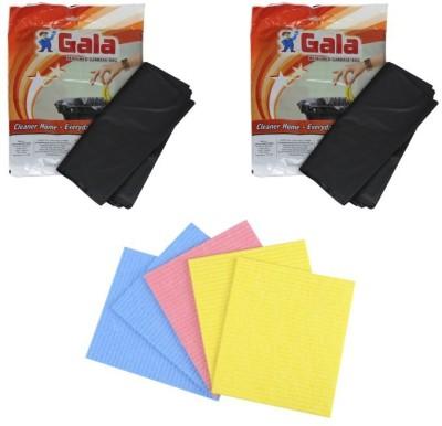 GALA Perfumed Garbage Bag & 5pcs Sponge Wipe Scrub Pad(Pack of 3)