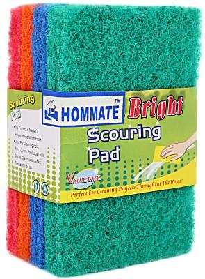 Hommate Scrub Pad(Multicolor Pack of 4)