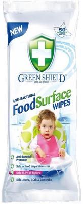 Greenshield Food Surface Wipes Scrub Sponge(White Pack of 50)