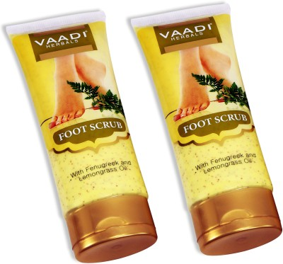 Vaadi Herbals Value Pack of 2 Foot Scrub with Fenugreek & Lemongrass Oil Scrub(240 g)