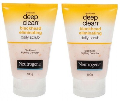 Neutrogena Deep Clean Blackhead Eliminating Daily Scrub (Pack of 2) Scrub